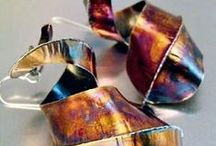 coloring on metal: patina, enamel & more / There are lots of fun ways to add color to metal to make more interesting jewelry designs, including enameling, patinas, paints, inks, cold enamels, and more. / by Jewelry Making Daily