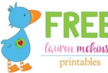 FREE printables {Lauren McKinsey} / Lauren McKinsey has lots of adorable FREE printables for you. To see all of her cute and affordable downloadable designs visit her website.  laurenmckinsey.com