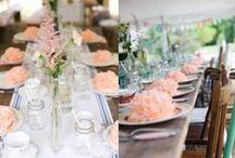Wedding Decoration / Elementos decorativos para bodas, desde el seatting plan a la decoración de las mesas