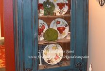 PAINTED FURNITURE. / Period pieces reinvented by painting with different finishes. Painted to give a rustic, shabby, vintage or French to Country French look... / by BARBARA BOWSTEAD