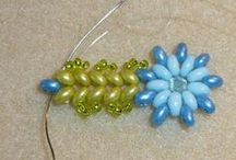 Bead Flowers and  Leaves / by Le Weath