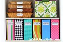 Cute Cheap Storage Solutions and Ideas / cute and cheap storage solutions and ideas to help you get organized without losing your style / by krista@thehappyhousie