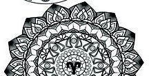 Mandala,flowers,nature,animals and others / Relaxing through color! Adult Coloring book-Ella Monroe -The Secrets Journey to the Inner Self