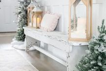 Christmas Style Series: All White Christmas / all white christmas, white christmas decor, christmas style