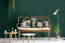 Green / Colour inspiration for interiors and design using green.