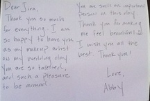 Thank You  / Thank you notes from our lovely clients. Thank you!