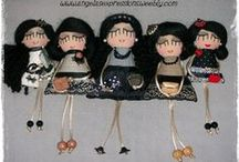 my handmade doll pins / 100% HANDMADE DOLLS AND ACCESSORIES