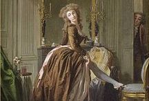 18th century: Brown / Fashionable brown 18th century gowns.