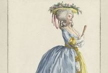 Fashion plates: 1784 / Fashion plates from 1784.