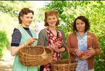 """Home Fires Knitwear / Favourite knits from the BBC show """"Home Fires"""" - I LOVE this program - it has everything I look for in TV:  it's British, period, loads of strong female characters, great writing and last but not least, fantastic costuming including gorgeous hand knits!   P.S. Ignore the negative reviews. They're usually written by men who were tuning in to see bombs dropping and stuff blowing up and instead, god forbid, found human drama."""