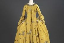 18th century: Robe à la Francaise: 1750s / Saque gowns from the 1750s.