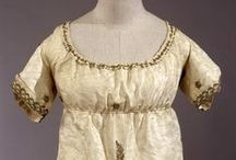 19th century: Regency evening/formal gowns with embroidery