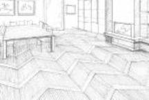 Parquet / Modules planks / Moduli di listoni per pavimenti e rivestimenti.