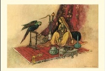 Sulamith Wolfing,  Warwick Goble, Edmund Dulac / to the child inside...I LOVE their illustrations! / by Debby Miller