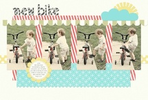 Two Page Scrapbook Layouts / Inspiration for two page multi-photo scrapbook layouts / by Elsa Marie