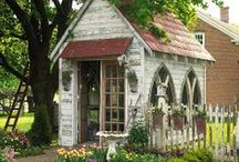 Garden Sheds & Potting Benches / by Stephanie Martin