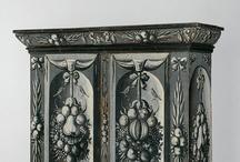 Furniture / Americana, antiques, mahogany, walnut, oak, Philadelphia, New York, Boston, cabriole leg, claw and ball foot, Pilgrim, Chippendale, Rococo, Queen Anne, Baroque, Georgian, Federal.  / by Aloysius Bear