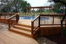 Above ground pool decks / Check out all the amazing above ground pool deck idea's   you have today.  http://www.abovegroundpoolbuilder.com/above-ground-pool-deck-ideas/  / by The Above Ground Pool Builder