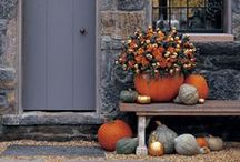 Door Decorating: Autumn / Wreaths, door hangers, garland and swags, your front door says it all!