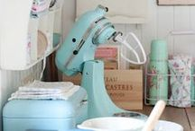 kitchen - vintage | retro | shabby chic / by Denise Fontana