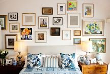 Wallscapes / Inspiration for arranging stunning wall groupings from pictures to plates.