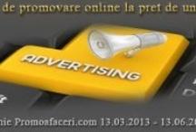 Campanii Promoafaceri / Servicii de promovare online pentru firme si institutii publice, comunicare media prin publicare de comunicate de presa, stiri si articole, publicitate pentru evenimente si multe altele!
