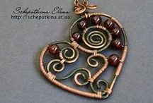 Jewelry: Wire Wrap  / Beautifully worked wire creations. I only hope to be this good...  Someday.  :-)