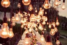 Wedding Lights / Clever ideas for lighting up your wedding day.