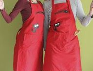 Cloth Moth Aprons / New series with kitchen aprons for boys and girls with humor.