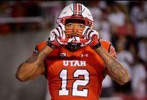 University of Utah Utes Football / The PAC-12 University of Utah Utes football team in action and in practice.