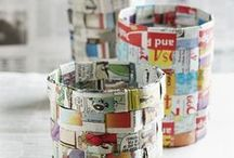 Newspaper Arts and Crafts / Fun things to do with newsprint