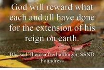 """October Quotes - Blessed Theresa / Quotes from Blessed Theresa Gerhardinger, foundress of the School Sisters of Notre Dame, for each day from """"Trust and Dare"""""""