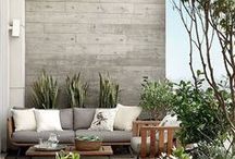 Clever Concrete / Using Concrete outdoors and in the garden in beautiful and interesting ways.  garden design, landscape design, cheap and chic, low maintenance, urban modern garden