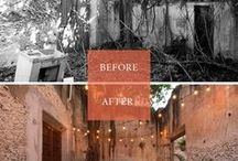Before & After Garden Makeovers / The great garden makeover board. Before and after gardens.