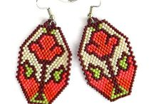 Seed Bead Beadwork Earrings / beaded and beadwork earrings / by Aimee Re