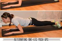 Gettin' fit / great at home exercises! / by Tina Guillemette