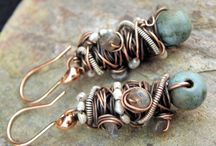 Beaded Earrings / Strung or wire-worked beaded earrings / by Aimee Re