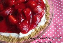 Strawberry Fields Forever / All things strawberry! From desserts to salads and main dishes strawberries are the star on this collection of yummy recipes!
