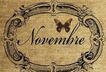 "November is...☁ / ""Goodbye smiles of the pinkish sunrises! Goodbye golden sunsets! 