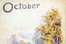 "October is...⊰ / ""Beloved month of the year when  the sweetest clouds cross morning sky and the pace of those leaving  comes across the dense leaves trail   that goes away."" (A.Bertolucci)"