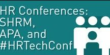 HR Conferences: SHRM, HR Tech, APA / A big part of HR is keeping up with new, validated techniques based on research and new technologies that help us implement that validated research. A great way to unlock the potential of your HR, organization, and workforce. Meet us at trade shows like #HRTechConf, #SHRM, and #APA.