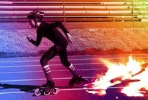 Go Faster BLAZE / inline speed skating. dry-land drills, techniques, forms
