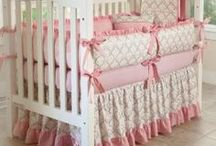 Crib Bedding/Nursery Ideas / One of the most anticipated rooms in our homes. The joy of planning for the arrival of a new baby is emotional and joyful. Beautiful selections of design and color for your very special room. Many themes to consider.