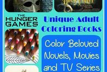 Adult Coloring Books / Fun way to de-stress and relax. Enjoy your childhood again. Express your artistic side. Enjoy!