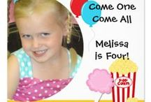 Kids Birthday Invitations / Beautiful kids theme birthday invitations for kids of all ages. These cute, fun, colorful invitations are easy to customize with your child's party specifics. We have hundreds of birthday party invitations for kids with various themes including pirate, bowling, movie night, camping, princess, dogs, safari, circus, train, transportation, airplane, mad scientist birthday, penguin, and many other kids birthday theme party invitations! Some of these kids birthday invites are also photo invitations!