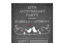 Anniversary Party Invitations / Anniversary party invitations that you can easily customize with all your party specifics before ordering. Affordable, various designers, so many styles and designs to choose from. Milestone anniversary party invitations for 10th anniversary, 25th anniversary, and 50th anniversary as well as many others that you can customize to your specific year.