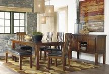 Dining Room / When it's time to sit and eat, work, study or chat it's good to have the right table and chairs!