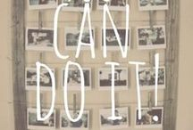 {You Can DO IT! DIY} / Do It Yourself Inspired Crafts!