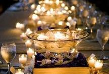 Wedding decoration / Hier vindt allerlei leuke ideeen voor de inrichting van uw feestzaal