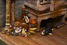 Halloween Miniatures / Relics, reliquaries and curiosities and all things that go bump in the night brought to you by Dolls House and Miniature Scene magazine http://www.dollshouseandminiaturescene.co.uk